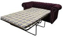 Buy luxury purple fabric Chesterfield sofa bed  
