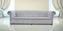 Buy mink fabric Chesterfield sofa UK with Crystals