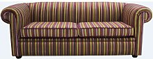 Buy stripe fabric Chesterfield sofa UK |