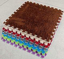 BuyElegant 10 x EVA Foam Rug Tile (Brown) Soft