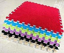 BuyElegant 10 x EVA Foam Rug Tile (Red) Soft