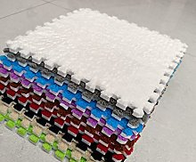 BuyElegant 10 x EVA Foam Rug Tile (White) Soft