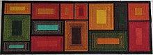 BuyElegant Brown Blocks 3D Area Rug/Polyester