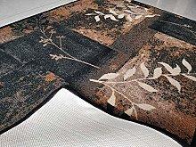 BuyElegant Dark Blue Decor Grey Area Carpet Floor