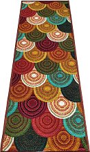 BuyElegant Knitted Brown Print Brown Area carpet