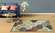 BuyElegant Knitted Green Anti Slip Area Rug/Carpet