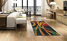 BuyElegant Modern Art Black Area Rug Floor Carpet