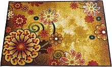 BuyElegant Morning Bloom Golden Polyester Area