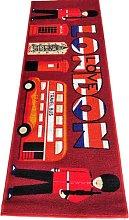 BuyElegant Polyester Area Rug Red Floor Carpet