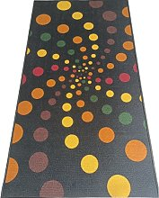 BuyElegant Spiral Dots Dark Area Rug Floor Carpet