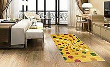 BuyElegant Spiral Dots Light Area Rug Floor Carpet