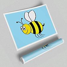 Buzzing Bee Paper Print East Urban Home
