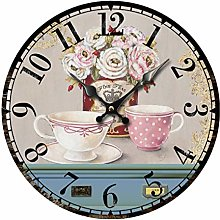 BVCK Overwatch Wall Clock Cup And Flowers Retro