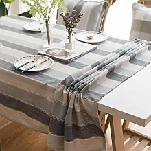 Bwhman Rectangle Table Clothvailge Tablecloth Gray