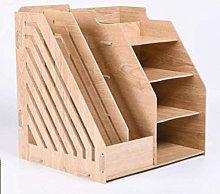 Bxiaoyan Bookshelf Wooden Document Rack Desk Shelf