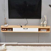 BXYXJ Floating TV Stand Shelf, Wall-mounted Media