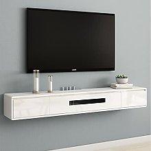 BXYXJ Oak Floating TV Stand/Shelf, 120CM Wall-