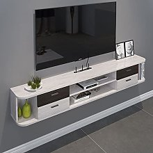 BXYXJ Wall Mounted Media Console With 4 Drawer,
