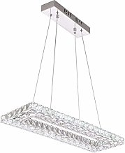 BXZ Chandelier Ceiling Lamp Rectangular Crystal