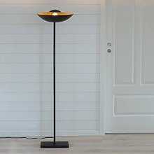 By Rydéns Captain Uplight floor lamp black/gold