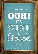 by Unbranded Framed wooden sign It's Wine