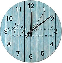 by Unbranded Simplicity Wooden Clock 10 Inch, Holy