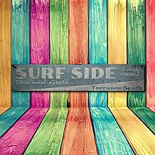by Unbranded Wood sign,Surf Side Bar & Grill Wood