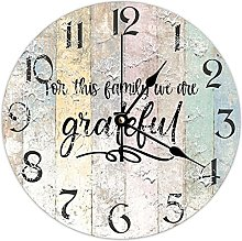 by Unbranded Wooden Clock 15 Inch, For This Family