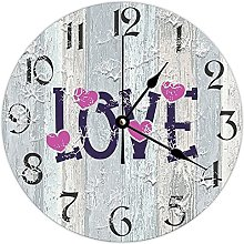 by Unbranded Wooden Clock 15 Inch, Love With