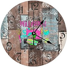 by Unbranded Wooden Clock Wall Decor 10 Inch, She