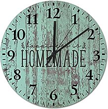 by Unbranded Wooden Wall Clock 12 Inch, Happiness