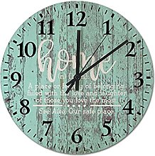 by Unbranded Wooden Wall Clock 12 Inch, Home