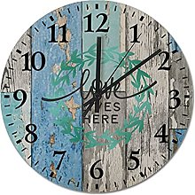 by Unbranded Wooden Wall Clock 12 Inch, Love Lives