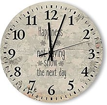 by Unbranded Wooden Wall Clock 15 Inch, Happiness