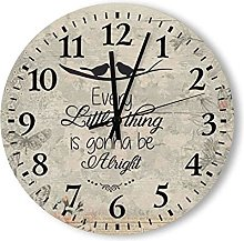 by Unbranded Wooden Wooden Wall Clock 38 * 38cm,
