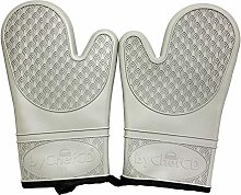 ByChefCD Silicone Oven Mitt (1 Pair) Double-Layer,