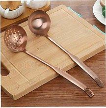 BYFRI 2 Pcs Soup Ladle Colander Rose Gold Frosting