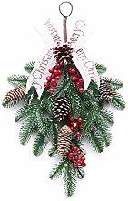 BYFRI Christmas Wreath Door Wall Ornament Wreath