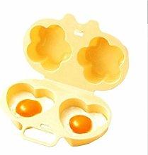 BYFRI Egg Poacher Microwave Egg Cooker Love Flower