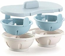BYFRI Microwave Egg Poacher, Cookware Double Cup