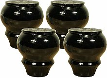 BYGZZ 4pcs Solid Wood Furniture Legs,9cm Round