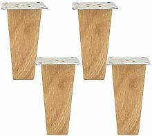 BYGZZ 4pcs Wood Sofa Legs,Reliable Wooden