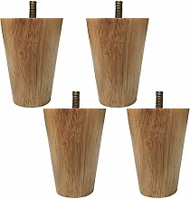 BYGZZ Solid Wood Furniture Legs,M8 Bolt Cabinets