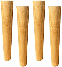 BYGZZ Solid Wood Furniture Legs,Straight Tapered