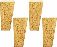 BYGZZ Solid Wood Sofa Feet,Wooden Legs Furniture