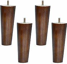 BYGZZ Walnut Color Sofa Feet,Solid Wood Furniture