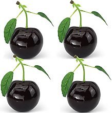 BYHUACN 4PCS Artificial Large Red Cherries,