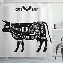 BYRON HOYLE Loin Cow Meat Cuts Cook Beef Diagrams