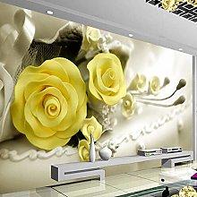 BYSQX Non-Woven Wallpaper Beautiful Rose Fashion