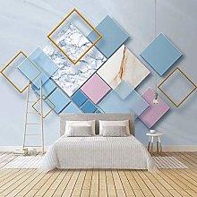 BYSQX Non-Woven Wallpaper Geometric Rhombus Marble